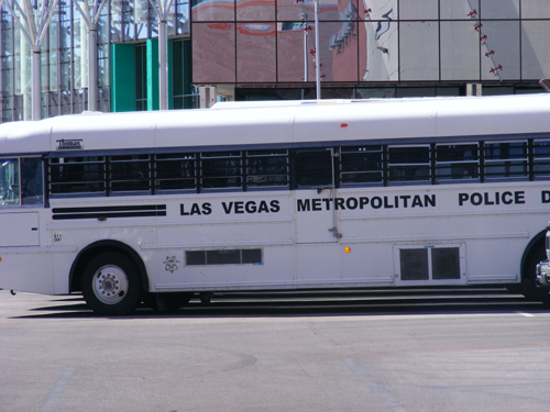Las Vegas Metropolitan Police Department Bus at Clark County Detention Center Las Vegas